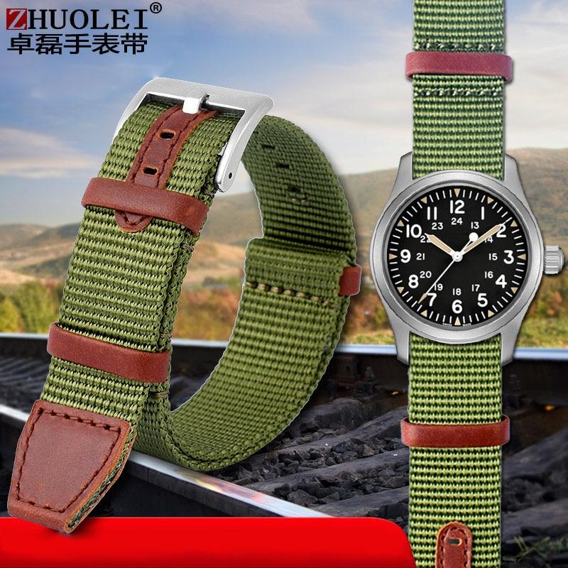 Nylon watchband for H-AMILTON Khaki field H69439931 H69439411  Seiko T-imex wristband brand leisure