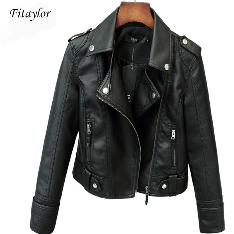 Fitaylor-جاكيت نسائي قصير من البولي يوريثان للربيع والخريف ، جاكيت غير رسمي لركوب الدراجات النارية ، بانك ، أنيق