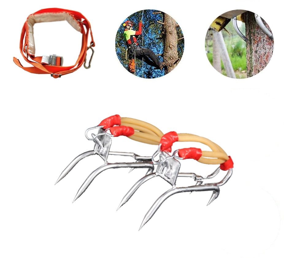 Tree Climbing Shoes Picking Fruit Shoe Claws Tree Climbing Tool Pole Heavy Duty Climbing Tree Spikes Tree Climbing Tool