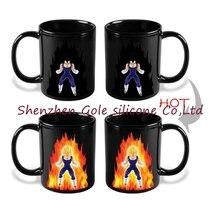 96pcs/lot  Genuine Dragon Ball Z Vegeta Changing Coffee Mug Heat-sensitive Reactive Ceramic Cup Mug Christmas Gift