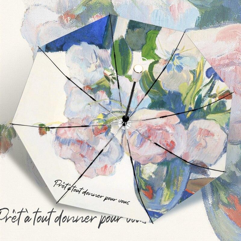 Flor Paraguas temático Paraguas sombrilla Parasol mujer Plegable Sombrillas Paraguas Guarda Chuva...