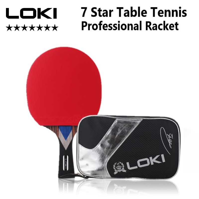 LokiM 7 Star Table Tennis Racket Professional Offensive Ping Pong Racket Paddle with ITTF Certificat