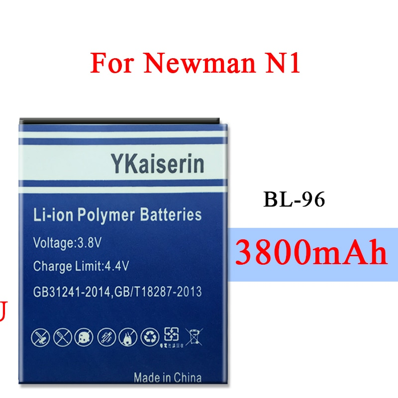 BL-96 100% New 3800mAh Li-ion Battery For Newman Newsmy N1 NX NM850 NM860 Lithium Polymer High Quality Batteries Bateria