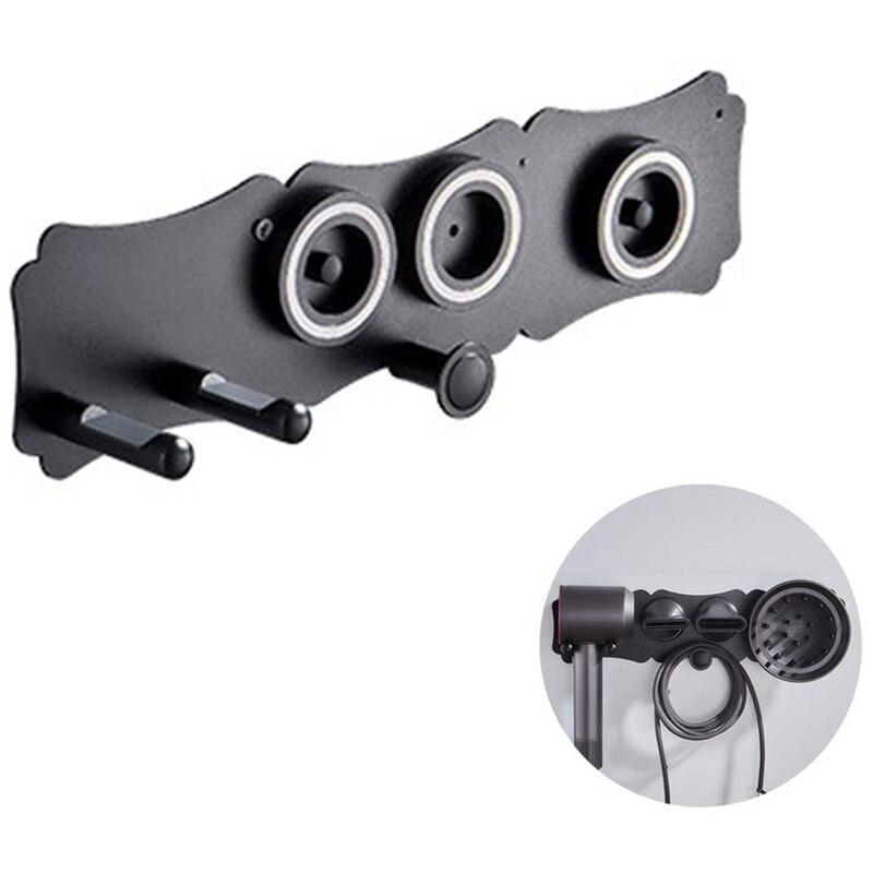 ELEG-настенный держатель для фена, самоклеющийся магнитный держатель-подставка для хранения, органайзер для Dyson, фен для волос, ванная комната S