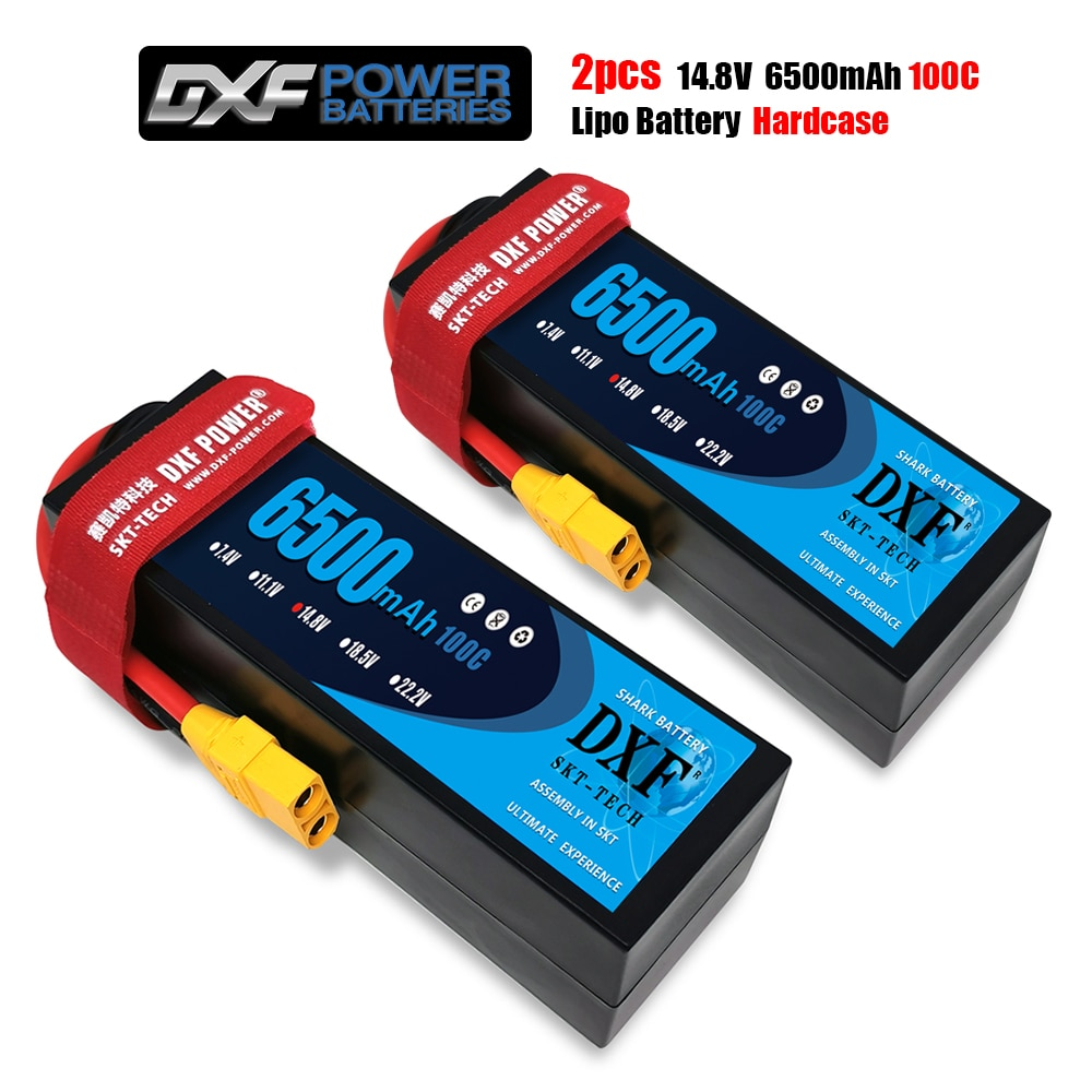 DXF POWER 6500mAh Lipo 4S 14.8V 100C 200C Hard Case Lithium Polymer Battery battery for RC Car Boat