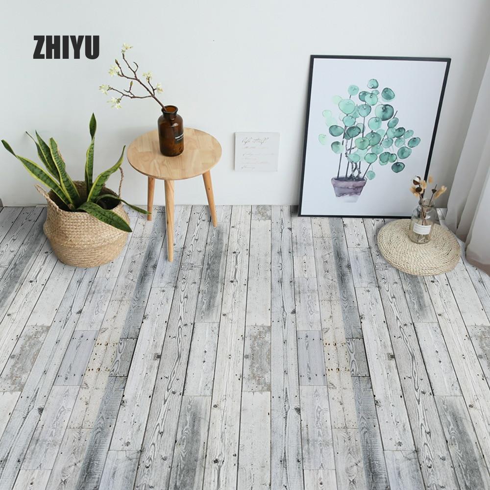 Дерево зерна напольная плитка планка наклейка DIY ПВХ самоклеющиеся водонепроницаемый пол наклейка кухня домашний декор на стену и пол