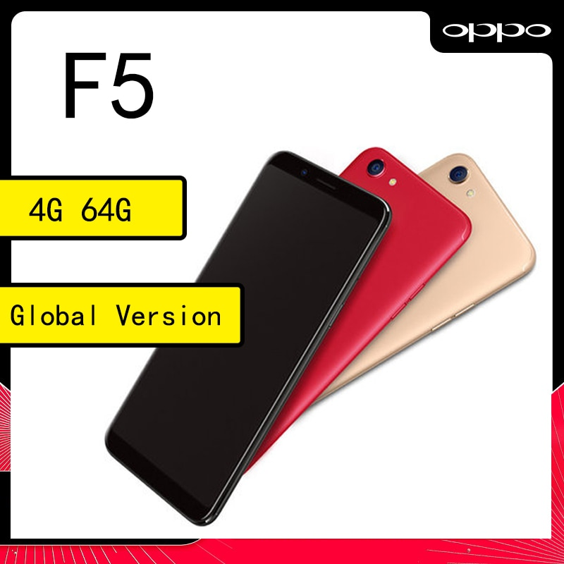 celular OPPO F5 4G 64GB Smartphone 2160*1080 MediaTek Helio P23 6.0 inch 3200mAh refurbished