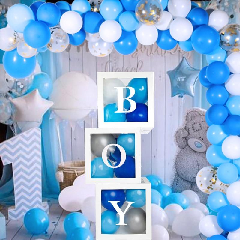 Синие латексные воздушные шары на первый день рождения мальчика-2
