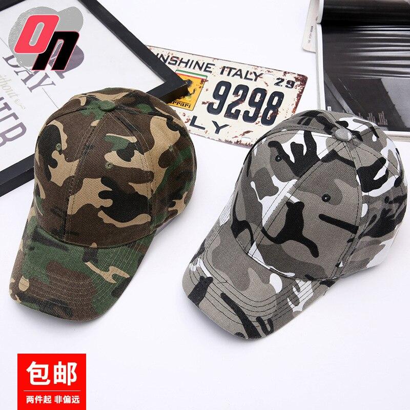 Masculino ao ar livre camuflagem boné de beisebol feminino casual topee brim chapéu dos fãs do exército moda & esportes chapéu moda