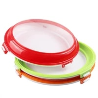 reusable food preservation tray creative plastic food storage container set kitchen fruit seafood fresh microwave organizer