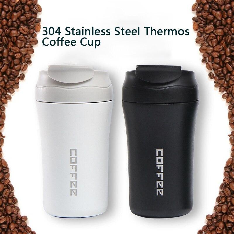 400 مللي ترمس قارورة القهوة القدح متعدد الألوان دوبل سميكة كبيرة سيارة القهوة القدح السفر كوب حراري هدايا ترموس تفريغ