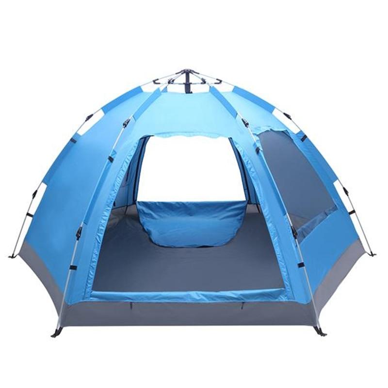 Tienda de campaña familiar automática para 3-4 personas, carpa plegable impermeable instantánea para acampar, senderismo, viajes, actividades al aire libre
