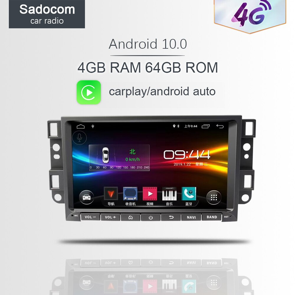 "8 ""DSP Android 10,0 para Epica Chevrolet Aveo Captiva 2006 -2012 2GB de RAM, reproductor de DVD del coche Wifi 4G coche radio 4,0 RDS RADIO GPS Navi"