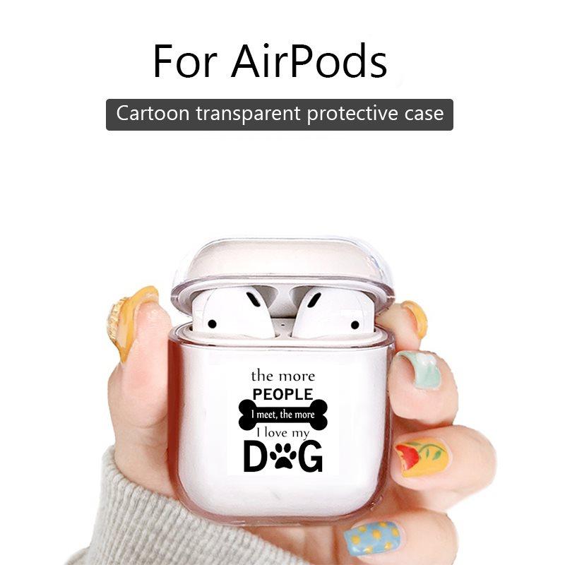 Беспроводной чехол для bluetooth-гарнитуры airpods 1, 2, 3, чехол из ТПУ с изображением животных, забавный, чем больше людей, которых я встречаю, тем больше я люблю свою собаку