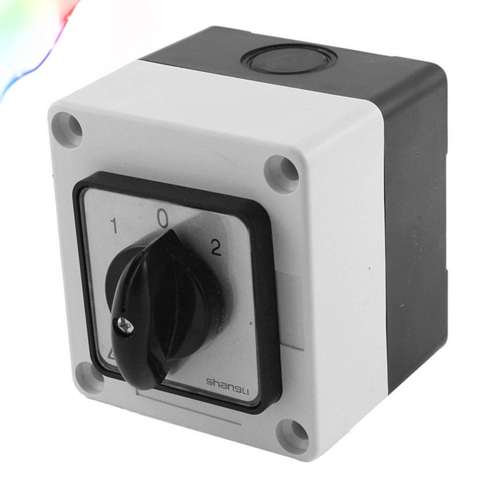 Ui 660V Ith 20A interruptor de cambio de cámara giratorio de 3 posiciones con caja de Control