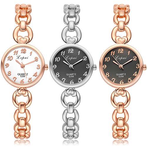 Reloj de pulsera de cuarzo calado con números árabes para mujer, reloj de regalo para el Día de San Valentín zegarki damskie, reloj de mujer, vestido de mujer