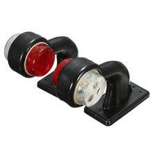 2 uds. Luces LED de distancia de indicador lateral de remolque de camión de coche 12V/24V lámpara LED de advertencia de doble codo rojo blanco 12 luces LED indicador lateral