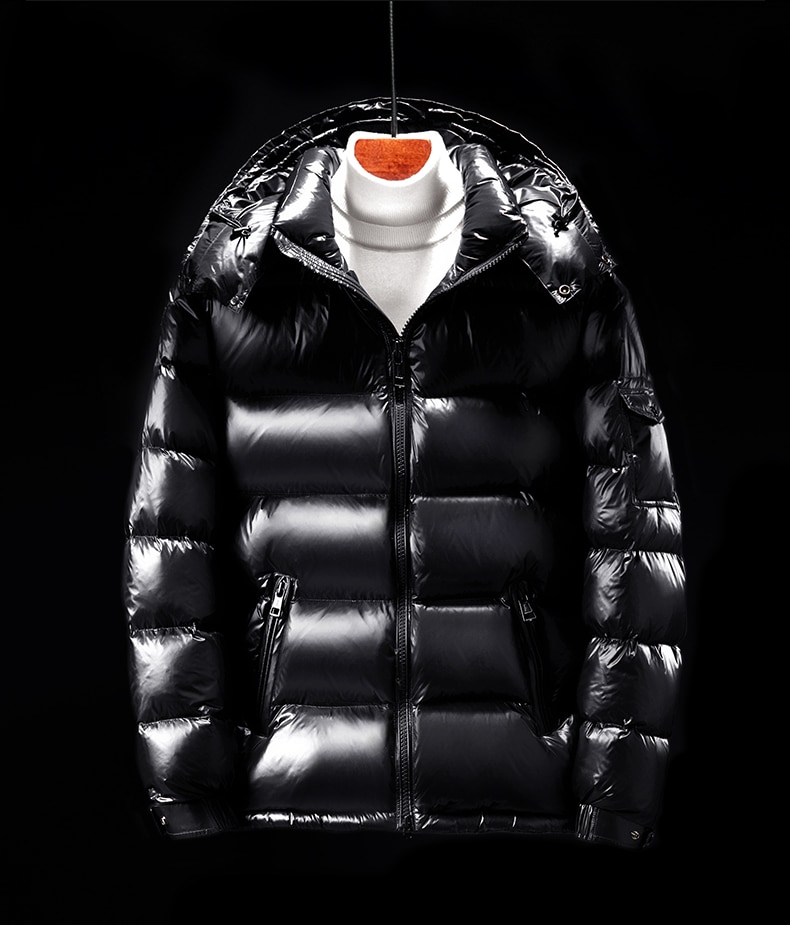 MZ autumn and winter new men's down jacket men's and women's same 90 white down thickened warm detachable hat casual coat black