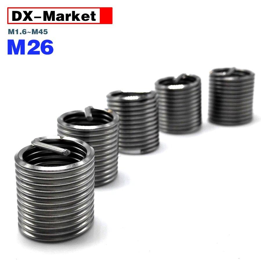 إدراج M26 مترابطة ، 304 الفولاذ المقاوم للصدأ غرامة الملعب سلك الموضوع إدراج أدوات ، M26 * 1.5p ، G003