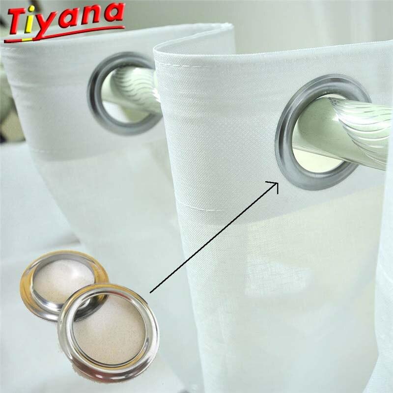 Venta al por mayor anillos de cortina con ojal cortina ojal superior plateado anillo de Metal encabezado cortina accesorios ser montado con una prensa 001 #3