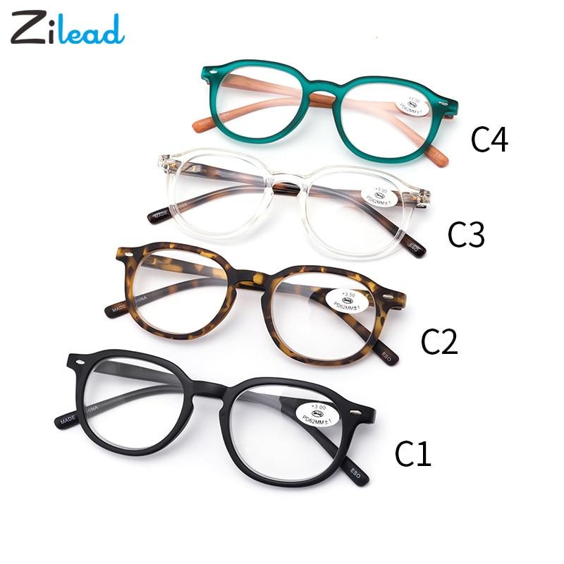 Zilead Ultralight Fashion Classical Retro Reading Glasses Men Women Eyeglasses Presbyopia +1.0 1.5 2.0 2.5 3 3.5 4 Unisex 2019