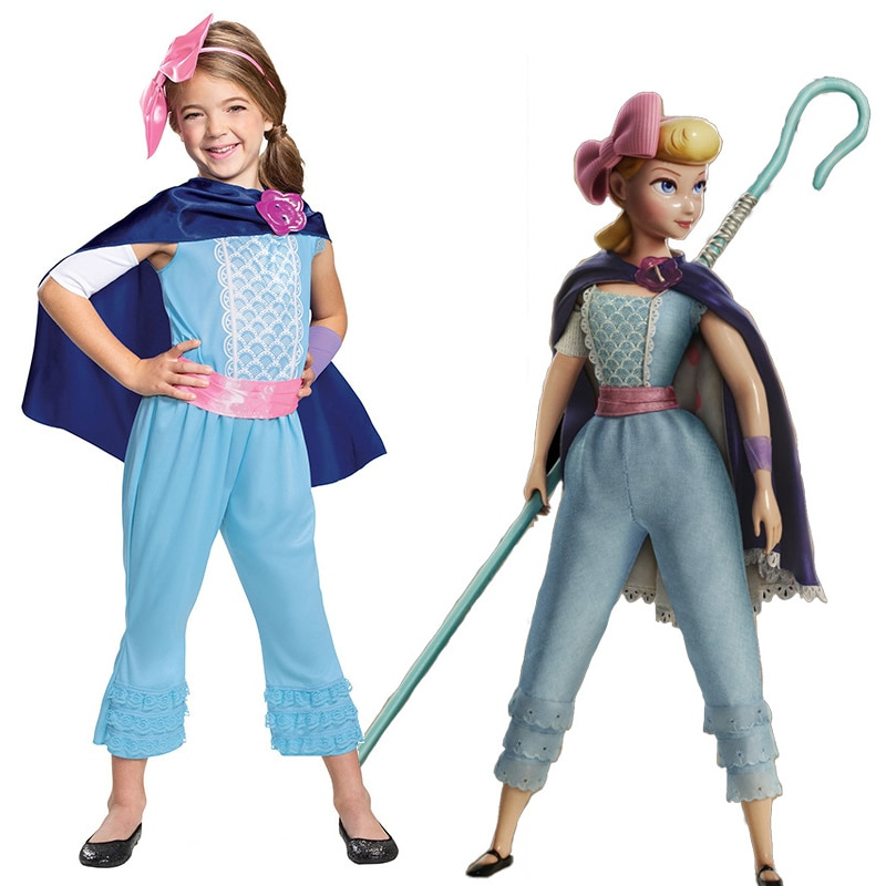 Niños Toy Story 4 niñas Bo Peep clásico Halloween Cosplay disfraz uniforme Pastora fiesta de Halloween C52799CH