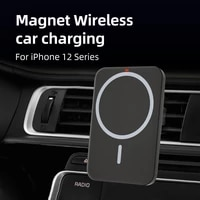 15w car phone holder wireless charger car mount intelligent infrared for air vent mount wireless magsafe for iphone12 series
