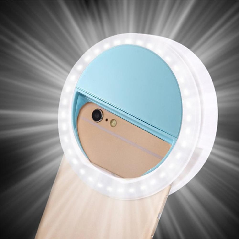 Portable Universal Mini LED Auto Selfie Flash Mobile Phone Selfie Light Night Female Anchor Beauty Self-timer Lamp