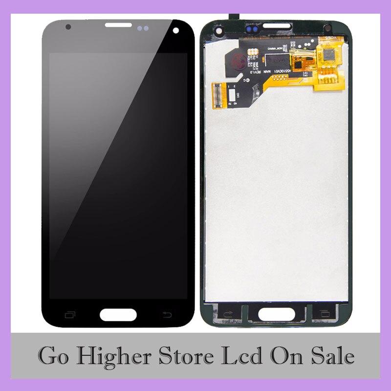 S5 LCD para SAMSUNG Galaxy S5 i9600 G900 G900F G900A LCD digitalizador Panel táctil montaje + herramientas gratis
