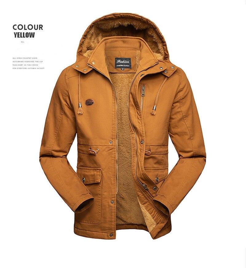 Мужские зимние куртки 2021, хлопковое пальто с капюшоном средней длины, свободное Мужское пальто большого размера из флиса, утепленное пальто