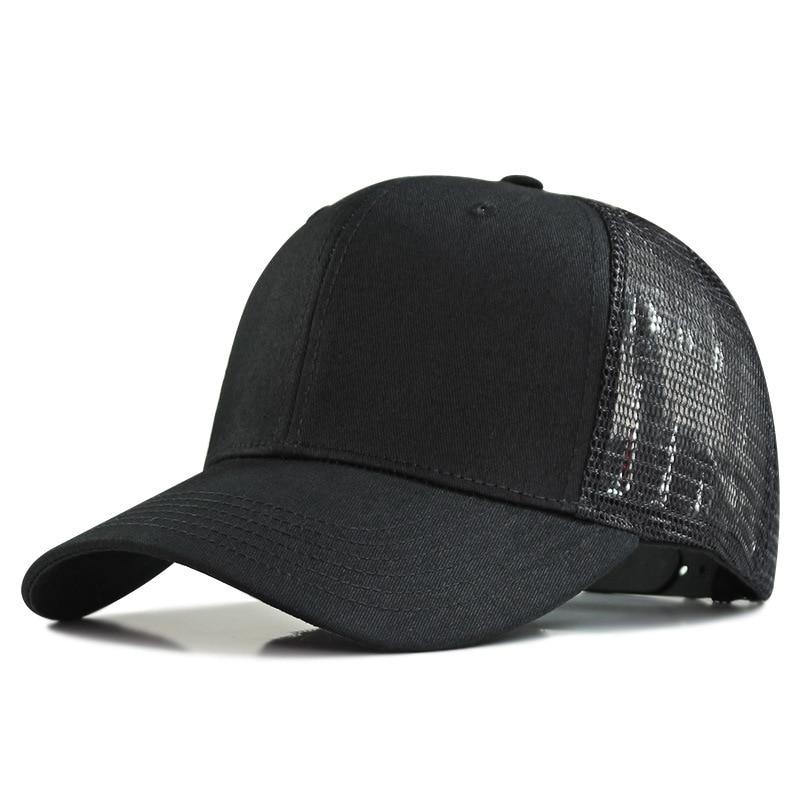 Мужские спортивные кепки для активного отдыха 62-69 см, большой размер бейсбольные кепки с сеткой, размера плюс