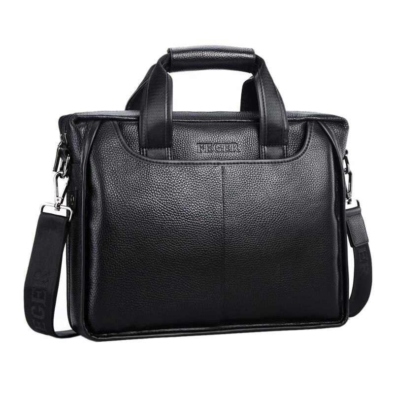Bolso de hombro de cuero genuino para hombre, bolso de hombro de marca para hombre, bolso de negocios, maletín para ordenador portátil, bandolera para hombre