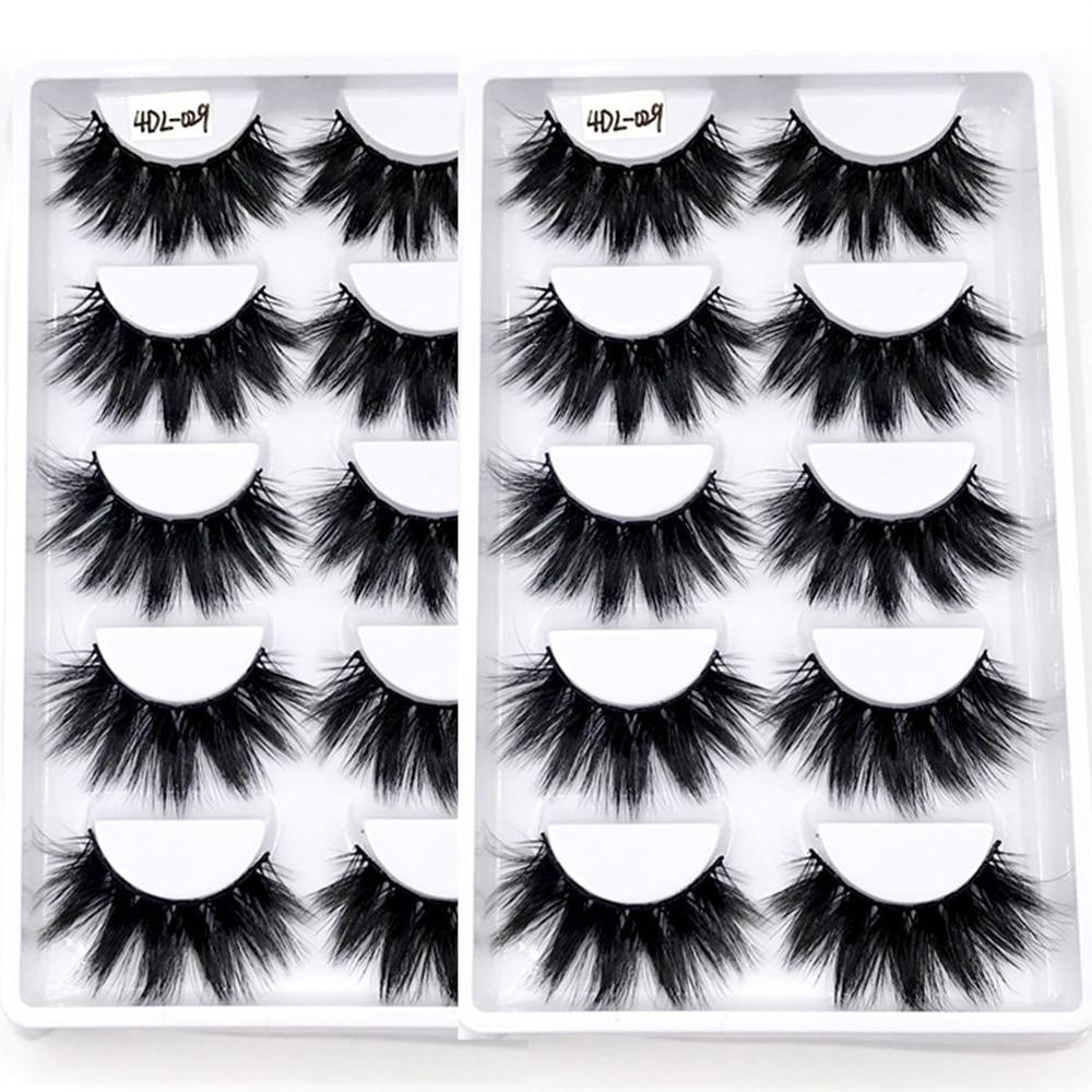 10Pairs 4DL-029 Wholesale Lashes Fluffy Mink Hair Eyelashes Full Volume Thick Wispy Mink Lashes Mess