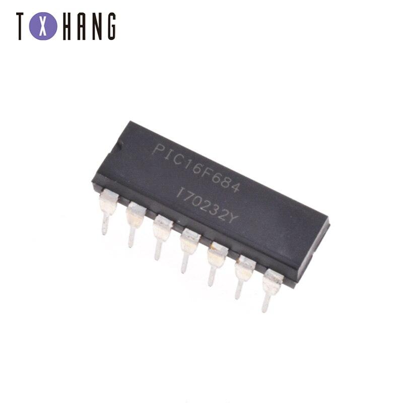 2 pçs/lote PIC16F684 PIC16F684-I/P DIP14 diy eletrônica