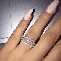 creative meteor micro inlaid full diamond ring for women 3 circles around fashion ring