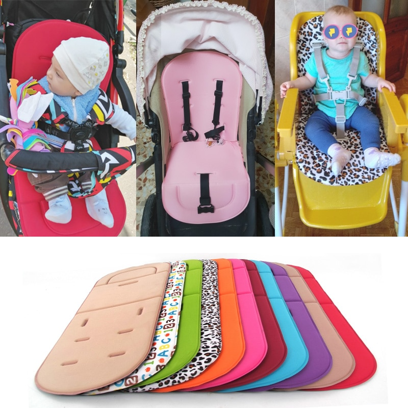 Baby Stroller Seat Cushion Kids Pushchair Car Cart High Chair Seat Trolley Soft Mattress Baby Stroller Cushion Pad Accessories baby stroller high view vip mode baby stroller with safety seat shockproof portable baby cart
