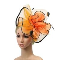 women sinamay fascinator fashion headwear ladies elegante band cocktail party hat wedding church kentucky derby royal head bands
