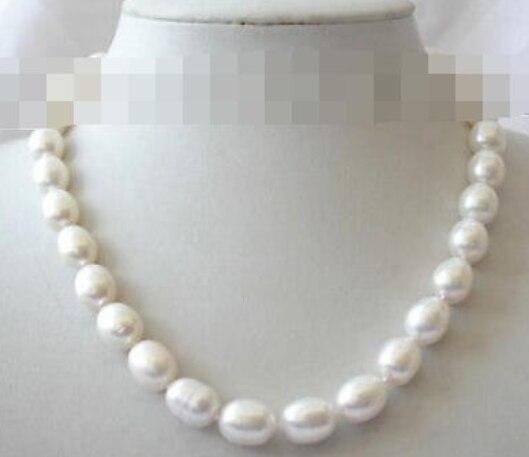 10-11mm barroco blanco agua dulce cultivada perla collar m556 natural lujo sra. chica boda joyería