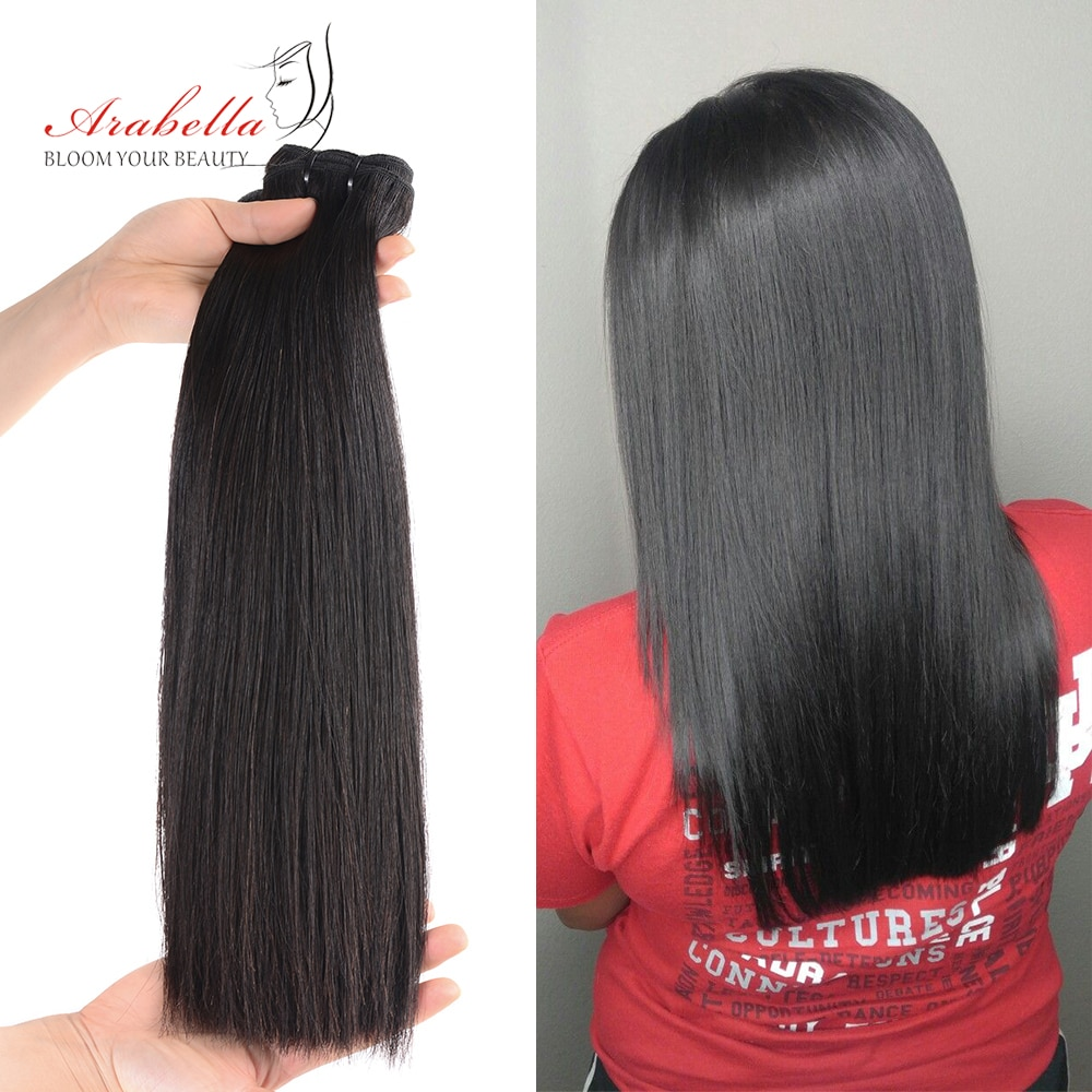 Super Double Drawn Virgin Hair Bundles Arabella Brazilian Straight Hair For Top Customer 100% Human