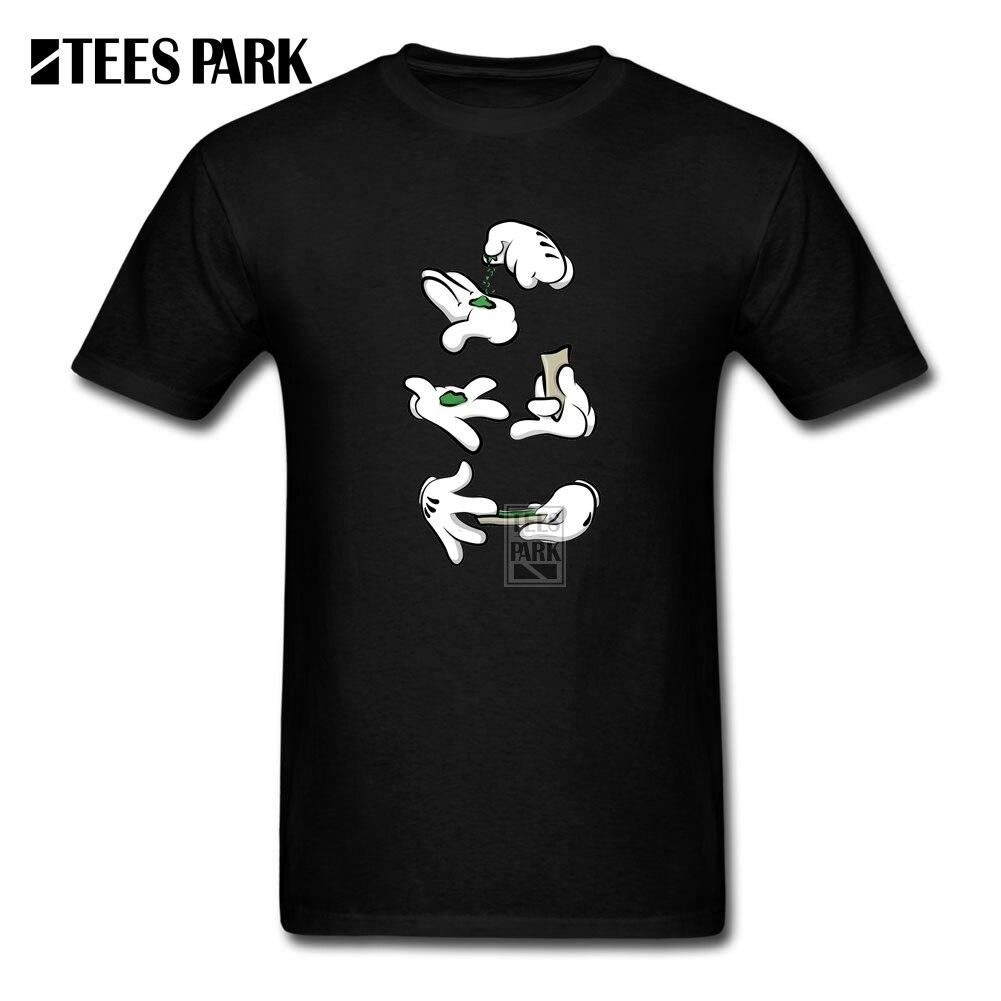 Camisetas con estampado gráfico para hombre, camisetas con manos de tiempo de hierba, camiseta de manga corta de algodón 100%, cuello redondo divertido para hombre diseño de la camiseta