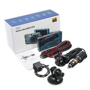 4 inches 1080P dual lens 170degree camera car dvr dash auto vehicle video recorder g-sensor night