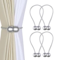 4pcs magnetic curtain tiebacks curtain holdbacks decorative rope clips window curtain tie convenient buckle for curtains