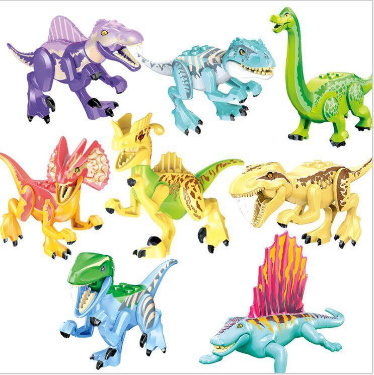 77086 bloques dinosaurio cifras de venta/8PcFerocious dinosaurio mundo Pteranodon D-REX Tiranosaurio Rex para los juguetes para los niños