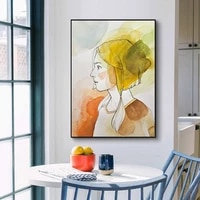 modern character image poster art print painting home room decoration simple new product frameless