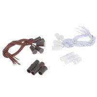 5 pieces MC-38 filaire porte fenetre capteur interrupteur magnetique pour systeme dalarme a la maison 100V DC livraison directe