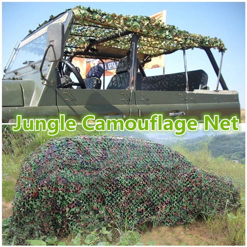 3Mx5M/ 9.8ft x 16.4ft Military Camo Netting Blind for Hunting Party Decoration Sun Shade Outdoor Watching Hide Camping Net