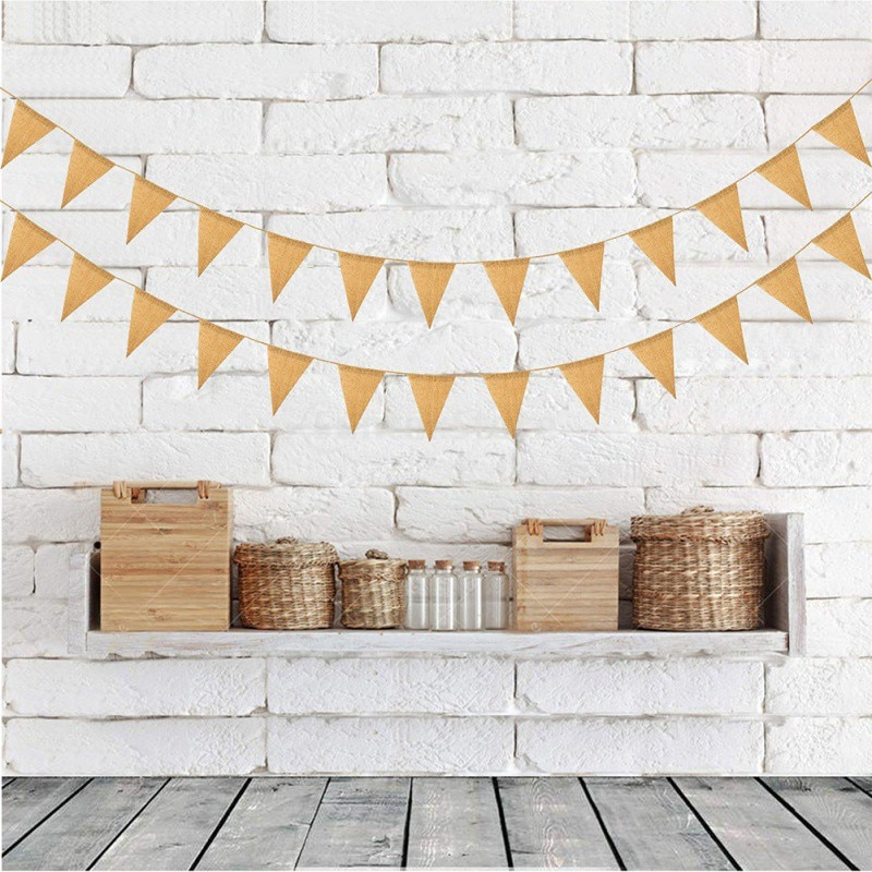1pc Simple Tri Shape Pull Flag Banner For Halloween Wedding Party Hanging Ornaments Party holiday De