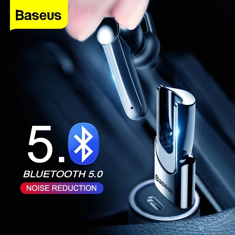 Baseus سماعة بلوتوث لاسلكية سماعة المغناطيسي USB شحن سماعة يدوي سماعات أذن استريو مع هيئة التصنيع العسكري آيفون شاومي