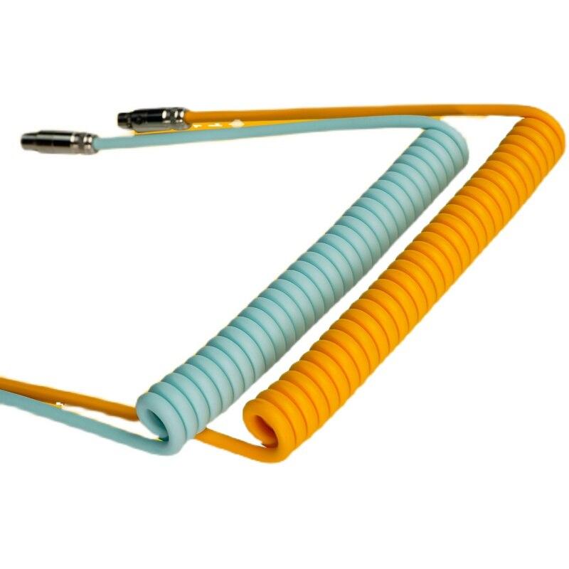 كابل لوحة المفاتيح الميكانيكية نوع البيانات C إلى USB متروبوليس ملفوف الطيار موصل الأسلاك النحاسية ل FL esport KT GK61