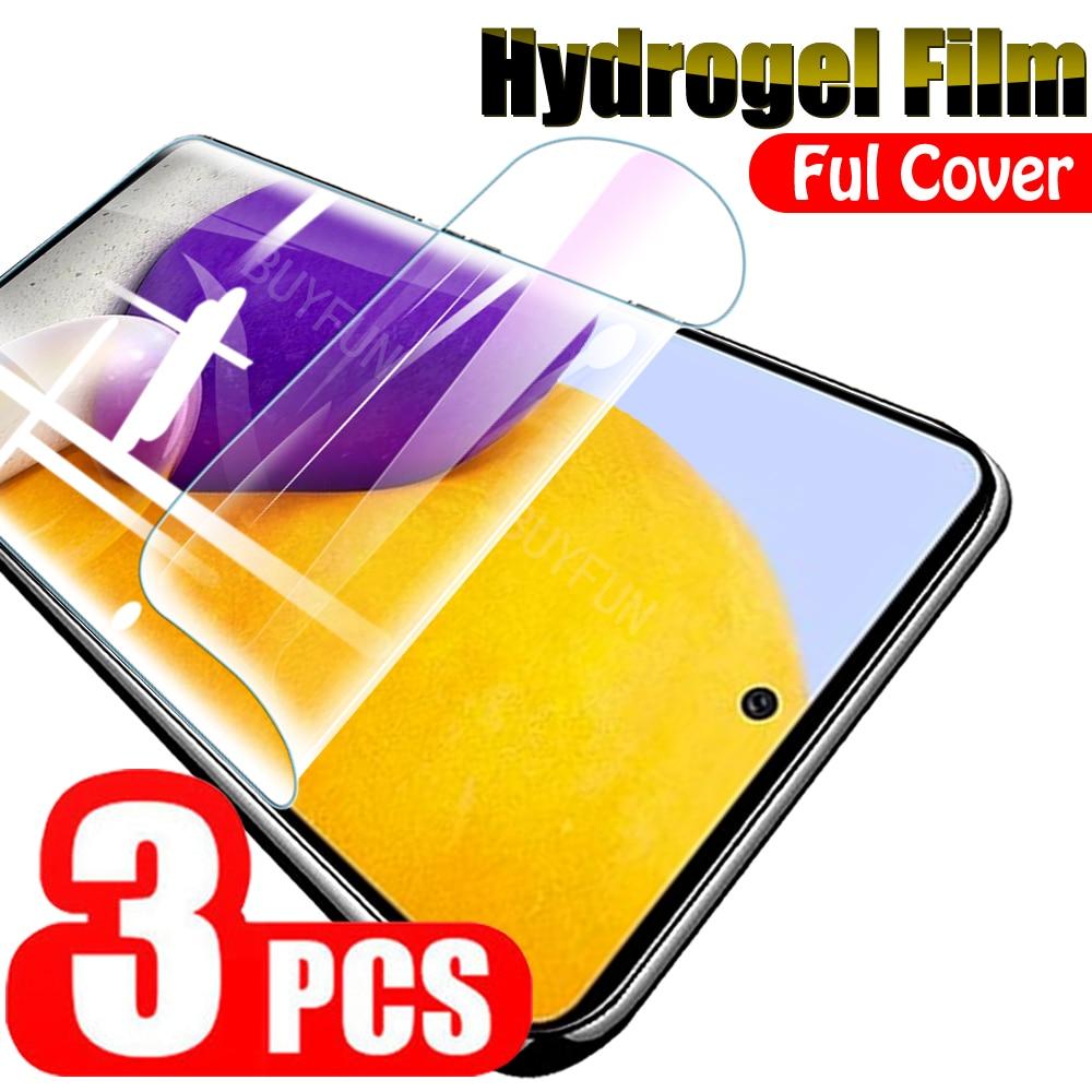 3PCS Hydrogel Film For Samsung Galaxy A72 A52 A42 A32 A12 A02 5G/4G Full Cover Water Gel Film Samsun A 72 Safety Film Not Glass